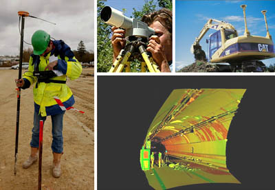 The land surveyor is involved in taking measurements using different techniques at every stage of a project.
